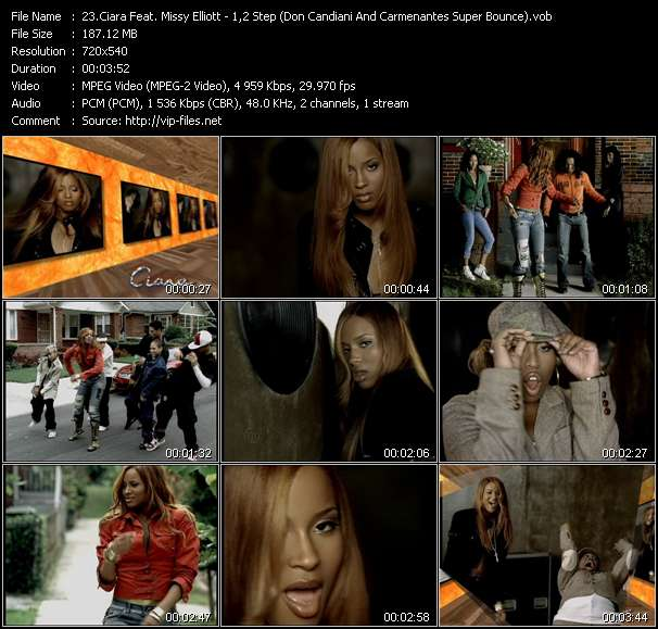 Ciara Feat. Missy Elliott - 1,2 Step (Don Candiani And Carmenantes Super Bounce)