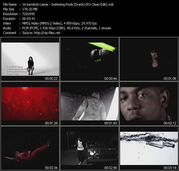 Kendrick Lamar - Swimming Pools (Drank) (PO Clean Edit)