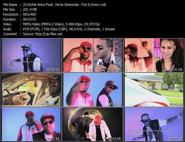 Richie Wess Feat. Verse Simmonds - Put It Down