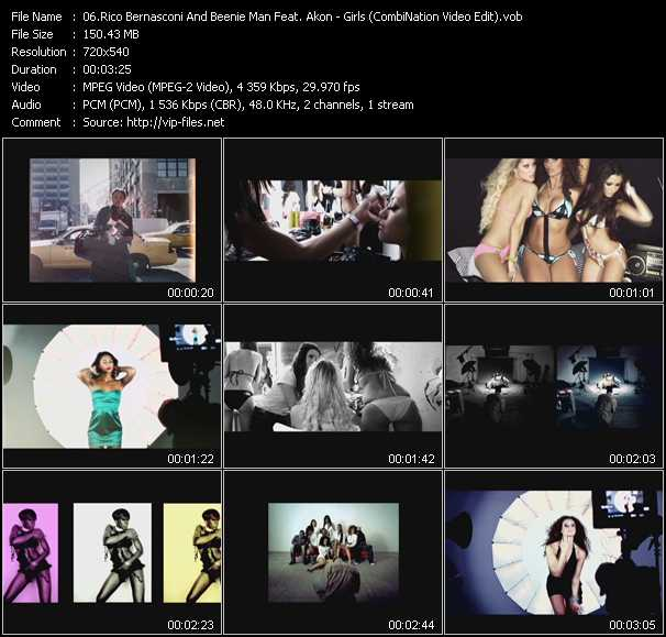 Rico Bernasconi And Beenie Man Feat. Akon - Girls (CombiNation Video Edit)