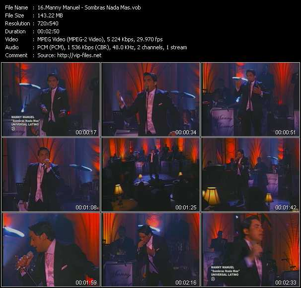 Manny Manuel - Sombras Nada Mas