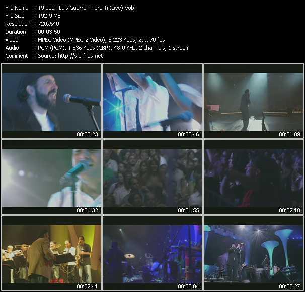 Juan Luis Guerra - Para Ti (Live)